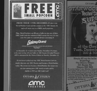 Free Popcorn at AMC