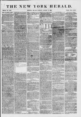 789b69a6283f New York Daily Herald from New York, New York on August 25, 1857 · 1