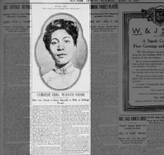 Mabel Ping-Hua Lee voices plans to participate in 1912 New York suffrage parade