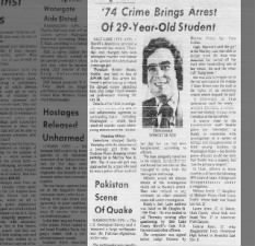 Ted Bundy arrested and charged for kidnapping of Carol DaRonch