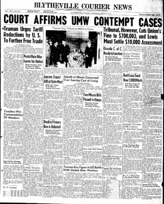 The Courier News from Blytheville, Arkansas on March 6, 1947 · Page 1