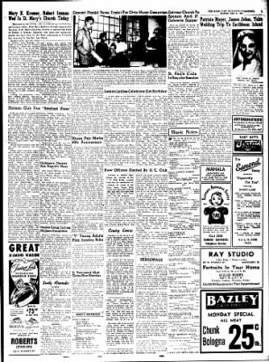 Kare Stehle sandusky register from sandusky ohio on april 16 1955 page 5