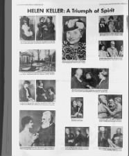 Newspaper images from the life of Helen Keller