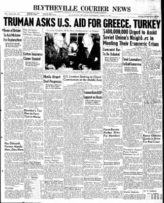 The Courier News from Blytheville, Arkansas on March 12, 1947 · Page 1