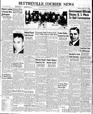 The Courier News from Blytheville, Arkansas on March 13, 1947 · Page 1