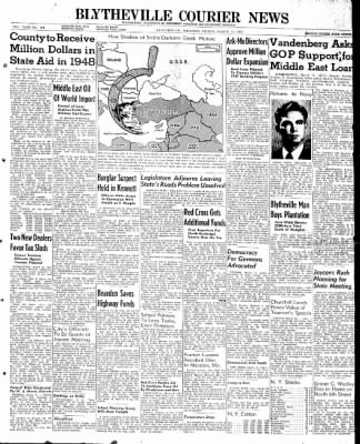 The Courier News from Blytheville, Arkansas on March 14, 1947 · Page 1