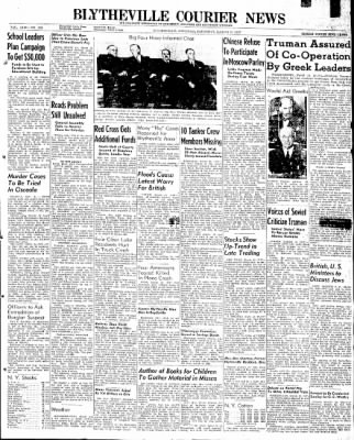 The Courier News from Blytheville, Arkansas on March 15, 1947 · Page 1