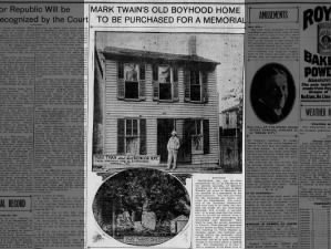 Photo of Mark Twain's boyhood home in Hannibal, Missouri