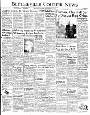 The Courier News from Blytheville, Arkansas on January 8, 1952 · Page 1