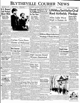 The Courier News from Blytheville, Arkansas on January 12, 1952 · Page 1