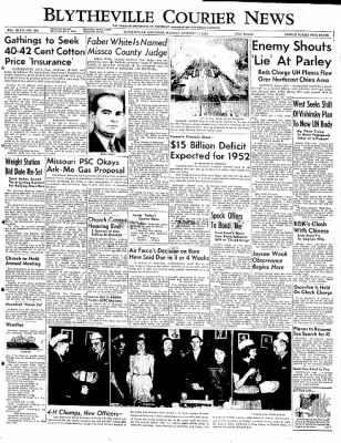 The Courier News from Blytheville, Arkansas on January 14, 1952 · Page 1
