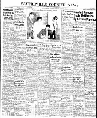 The Courier News from Blytheville, Arkansas on March 25, 1947 · Page 1