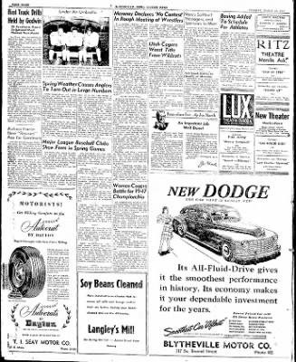 The Courier News from Blytheville, Arkansas on March 25, 1947 · Page 8