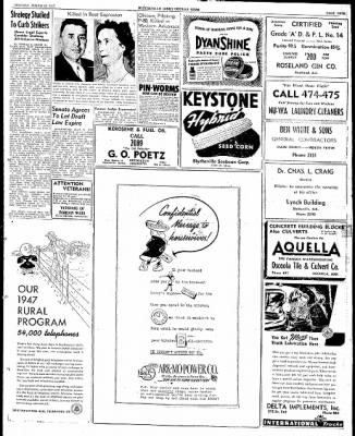 The Courier News from Blytheville, Arkansas on March 25, 1947 · Page 9