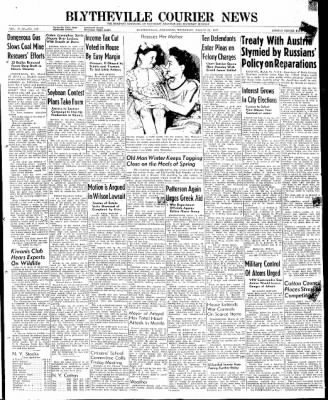 The Courier News from Blytheville, Arkansas on March 27, 1947 · Page 1