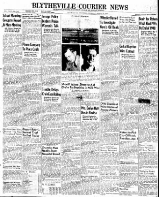 The Courier News from Blytheville, Arkansas on March 29, 1947 · Page 1
