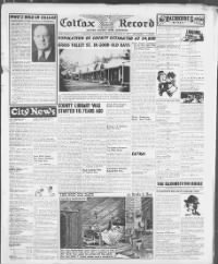 Sample The Colfax Weekly Record front page
