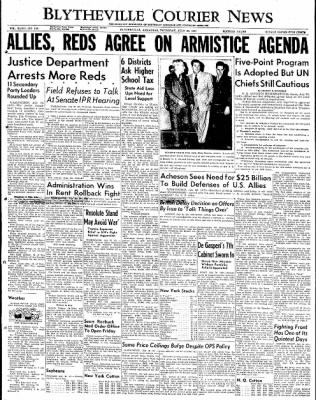 The Courier News from Blytheville, Arkansas on July 26, 1951 · Page 1