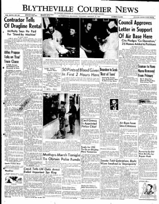 The Courier News from Blytheville, Arkansas on January 31, 1952 · Page 1