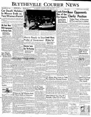 The Courier News from Blytheville, Arkansas on February 4, 1952 · Page 1