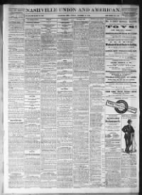 Sample Nashville Union and American front page