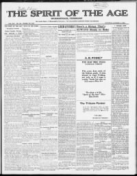 Sample Spirit of the Age front page