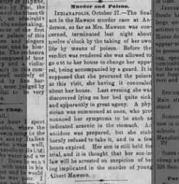 Murder and Poison - Public Ledger (Memphis Tennessee) 27 October 1874 -  Page 2 10b1f95939
