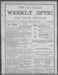 Sample The Las Vegas Weekly Optic and Stock Grower front page