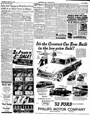 The Courier News from Blytheville, Arkansas on February 6, 1952 · Page 3