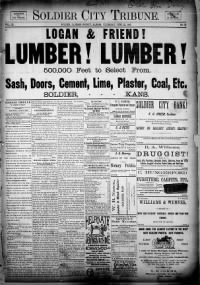 Sample Soldier City Tribune front page