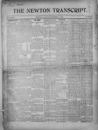 Sample The Newton Transcript front page