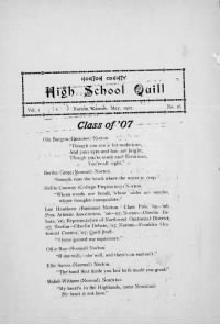 Sample Norton County High School Quill front page