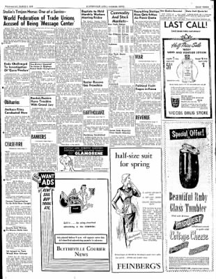 The Courier News from Blytheville, Arkansas on March 5, 1952 · Page 3