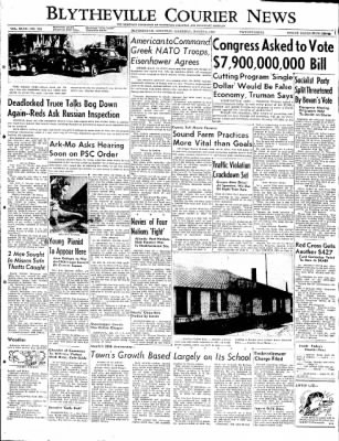 The Courier News from Blytheville, Arkansas on March 6, 1952 · Page 1