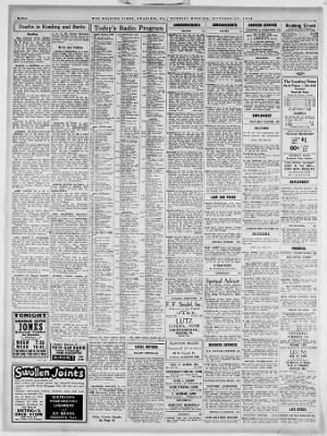 Reading Times from Reading, Pennsylvania on October 25, 1938