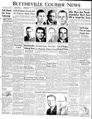 The Courier News from Blytheville, Arkansas on March 10, 1952 · Page 1
