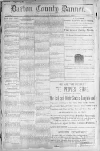 Sample Barton County Banner front page