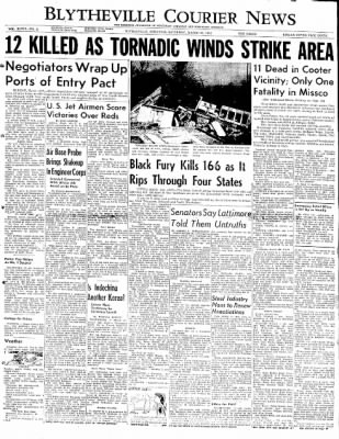 The Courier News from Blytheville, Arkansas on March 22, 1952 · Page 1