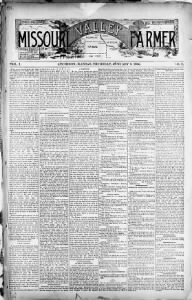 Sample Missouri Valley Farmer front page