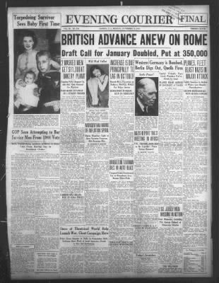 Courier-Post from Camden, New Jersey on November 29, 1943 · 1