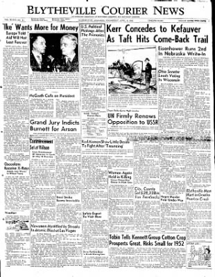 The Courier News from Blytheville, Arkansas on April 2, 1952 · Page 1