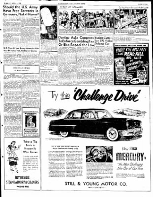 The Courier News from Blytheville, Arkansas on April 8, 1952 · Page 4