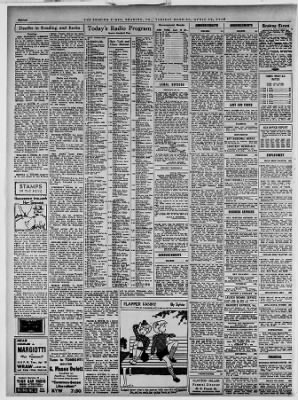 Reading Times From Reading Pennsylvania On April 19 1938