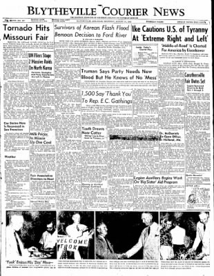 The Courier News from Blytheville, Arkansas on August 21, 1952 · Page 1