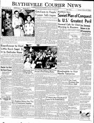 The Courier News from Blytheville, Arkansas on August 25, 1952 · Page 1