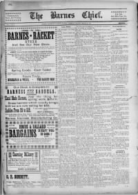 Sample The Barnes Chief front page