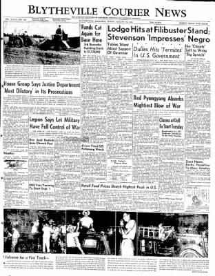 The Courier News from Blytheville, Arkansas on August 29, 1952 · Page 1