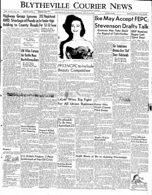 The Courier News from Blytheville, Arkansas on August 30, 1952 · Page 1
