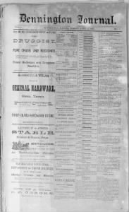 Sample Bennington Journal front page