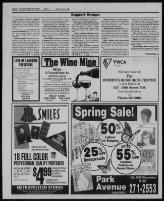 Calgary Herald From Calgary Alberta Canada On May 28 1992 111